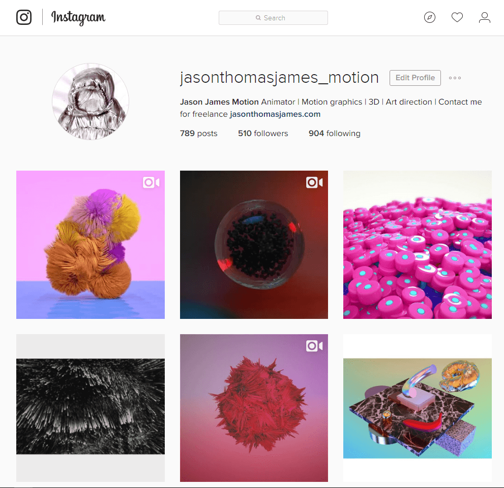 instagram motion design